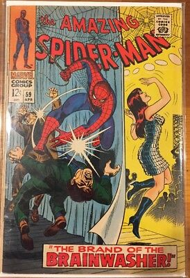 The Amazing Spider-Man #59 (Apr 1968, Marvel) 1st App Of Mary Jane On The Cover