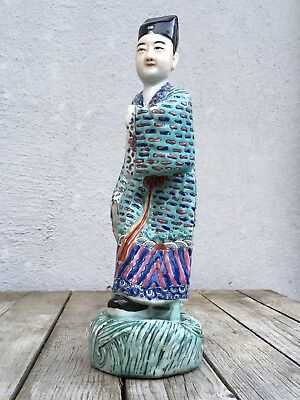 "Antique Chinese Export Famille Rose Sage Man 9 1/4"" Figurine"