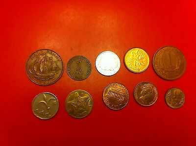World Coins Lot Of Collection 1 Cent 1965 1 Penny (#1065)