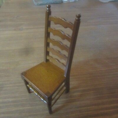 Dolls House Furniture 12th scale  Ladder Back Chair   DF1199