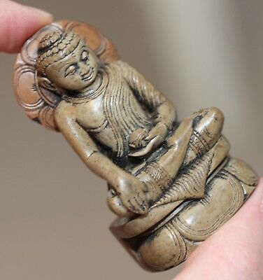 Antique Chinese, indian, southeast asian schist statue of a seated Buddha, FINE.