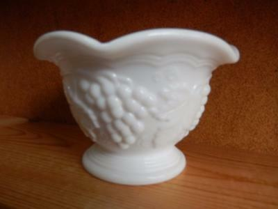 Sauce Dish in Vintage Harvest Colony Grape Milk Glass by Imperial Glass-Ohio