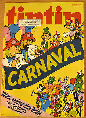 BD Comics Magazine Hebdo Journal Tintin No 5 37e 1982 Carnaval