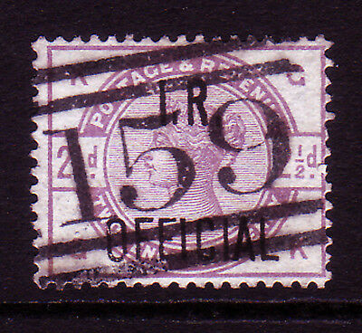 GB. QV. SG O6, 2 1/2d LILAC, I.R. OFFICIAL. GOOD USED.