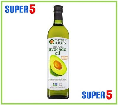 Avocado Oil | 1 ltr Bottle | 100% Pure | Chosen Foods Brand