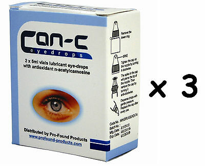 CAN-C Eye Drops for reducing, reversing & slowing cataracts 6 x 5ml Vials 3 Pack