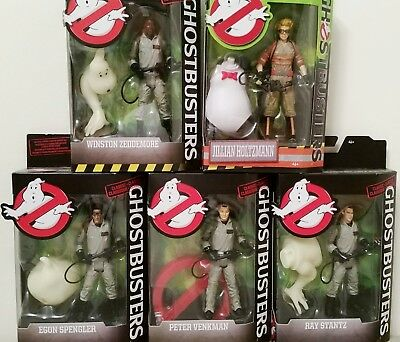 Classic Ghostbusters Set Of 4 Winston Egon Ray Peter PLUS Jillian Holtzman NEW!