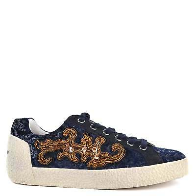 Ash Footwear Nymphea Midnight Suede and Printed Trainer