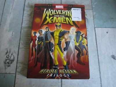 New *WOLVERINE and the X-MEN - Heroes Return Trilogy* Animated Sci Fi DVD Movie