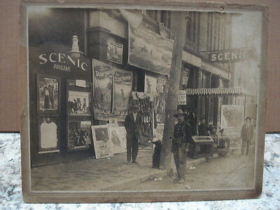 Early 1900's Scout Younger Advertising Photo/ Scenic Theatre /Westbrook, Me.