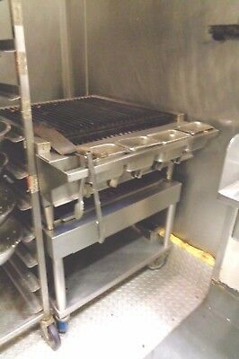 Montague Underfired Char Broiler Flame Grill Gas With Mobile Cart