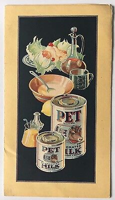 1925 Pet Milk Company Saint Louis St Louis Mayonnaise Recipes Color Pamphlet