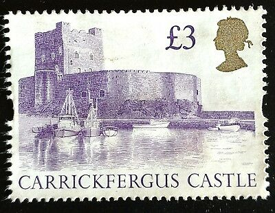 118.great Britain Used Definitive  Stamp Carrickfergus Castle, Boats.