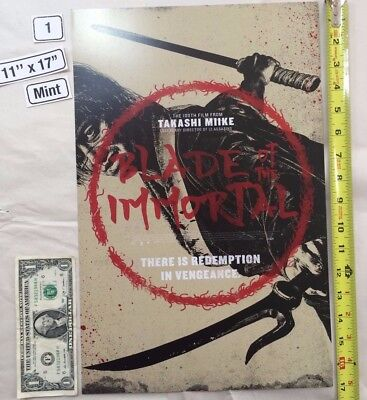 Blade of the Immortal 11 x 17 Poster Takashi Miike 2017 NYCC Circle Manji LE