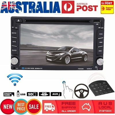 6.2'' Double DIN Car DVD CD Player Radio Stereo Head Unit Bluetooth Touch USB AM
