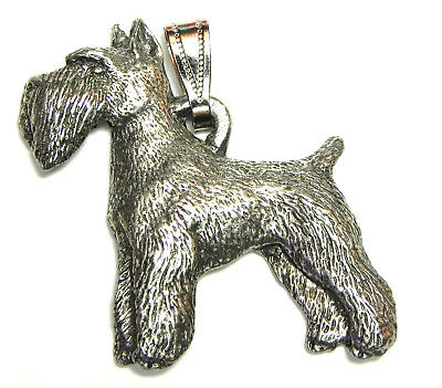 Schnauzer (cropped) Pendant Dog Harris Fine Pewter Made in USA jewelry