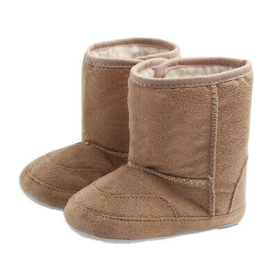 Infant Baby Boys Girls Winter Warm Boots Slippers Soft Sole Crib Shoes Prewalker