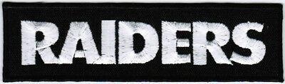 NFL Oakland Raiders Text Logo National Football League Iron On Embroidered Patch