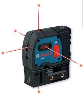5-Point Self-Leveling Plumb and Square Laser Bosch Level, Plumb, Square, Grade