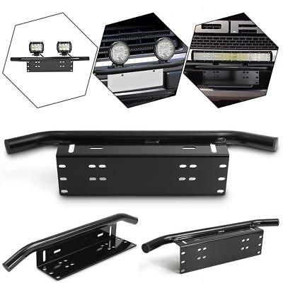 Car Front Bumper License Plate Bull Bar Mount Bracket Holder Light Best EB