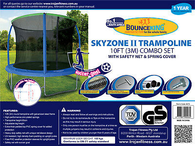 Trampoline 10 Foot 3 Mtr with Safety Net & Adjustable Height & Spring Cover
