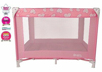 Red Kite Sleeptight Travel Cot - Pretty Kitty