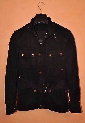 Belstaff Gold Label Men's Waxed Cotton Black Jacket Size 42 Made Italy P2P 19""