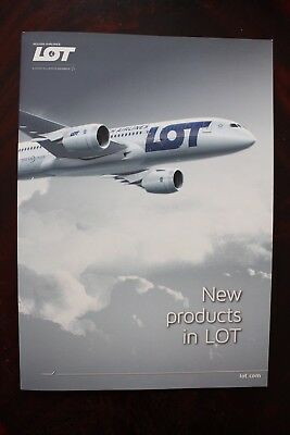 Brochure Lot Polish Airlines New Products In Lot