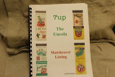 7up The Uncola Matchcover Listing ~ PB BOOK ~ By Bill Hubbard ~
