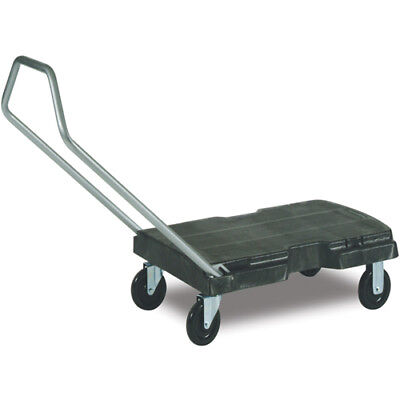 Rubbermaid FG440100BLA Triple Trolley w/User-Friendly Handle