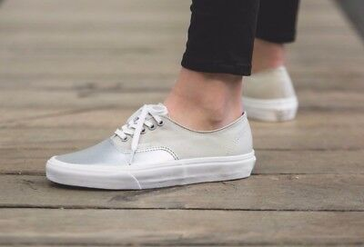 VANS AUTHENTIC DECON (Metallic CanvasLeather) Silver Skate