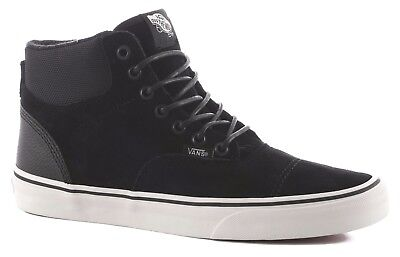 f3f854e4a1c89a VANS ERA HI (Pig Suede Nylon) Black Blanc Men s Skate Sk8 Hi Shoes ...