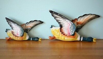 Vintage Flying geese ceramic wall hangings ducks fine china colour