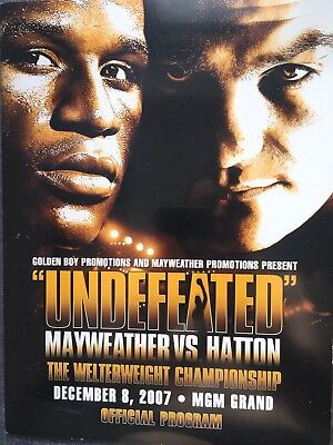 Floyd Mayweather Vs Ricky Hatton On Site Program - Collectible And Rare