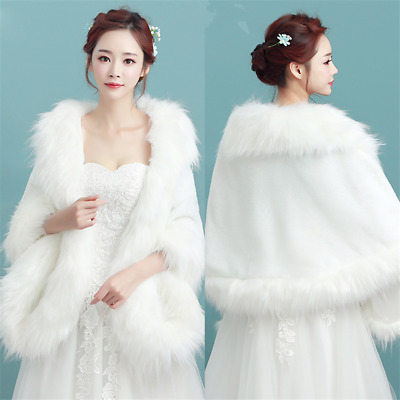 Lady Woolen Capes Shawl Wedding Dress Accessories Banquet Winter Warm Coats Wrap
