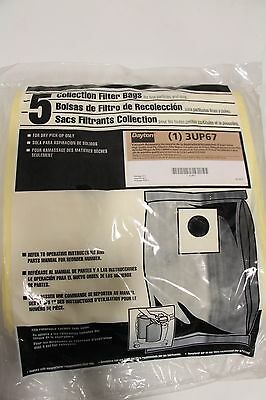 DAYTON High Quality Dual Ply Collection Vacuum Filter Bag Fits 15-25 Gal 3UP67