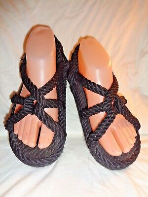 c651b2b9652a Gurkee s Rope Sandals-Barbados Black Womens Size 6 •  8.00 - PicClick