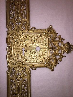 """Antique French Ormolu Decorative Door Plate Mansion Chateau 24"""""""