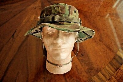 Us Army G.i. Multicam Acu Ripstop Camouflage Combat Floppy Hat Boonie Cap 7 1/4