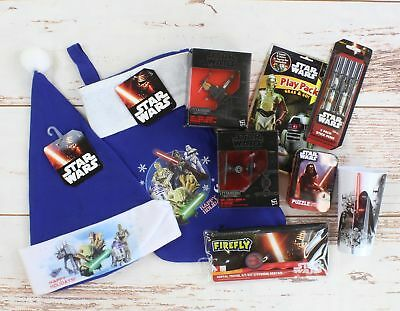 Star Wars Complete Stocking Set:  Stocking, Cap, Toys, Activities and Toothbrush
