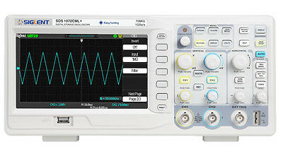 Siglent Digital Oscilloscope - 70MHz - SDS1072CML+ -  2 MBit Memory - 2 Channel