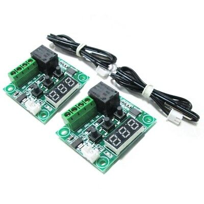 2x W1209 12V DC Digital Temperature Controller Board Mini Electronic Temper G6E1