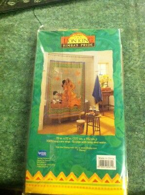 "Disney The Lion KIng ""SIMBA""S PRIDE"" shower curtain New in Package 70 x 72 vinyl"