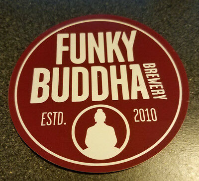 Funky buddha brewing sticker florida craft beer