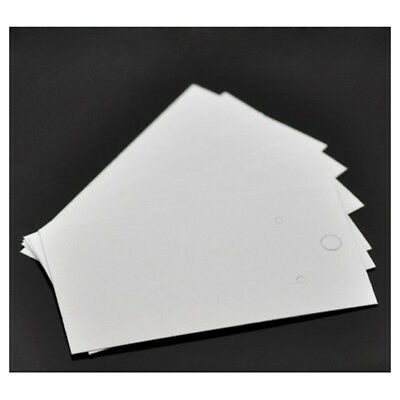 100PCs White Earrings Jewelry Display Cards 9x5cm T4D3