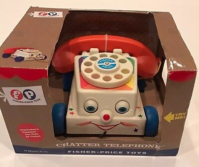 Fisher-Price Mattel 2009 CHATTER TELEPHONE Child Pull-Toy Remake Reproduction