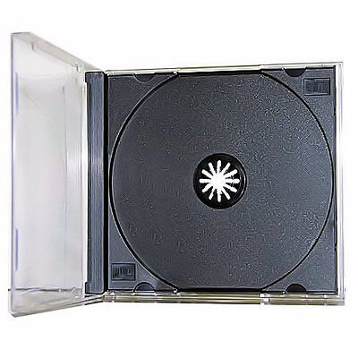 25 New Single Standard Black CD DVD Jewel Case Assembled 10.4mm [FREE SHIPPING]