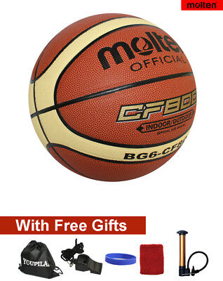 Women's Offical Size 6 Molten BG6 Composite Leather Basketball -- Six FREE GIFTS