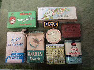 #cc.  Lot Of Nine(9) Tins & Packets, Some With Contents