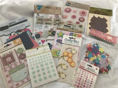 Scrapbook Or Card Making Sticker & Embellishment Pack x 10    Pack 4